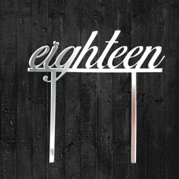 "Cake-Topper ""eighteen"""