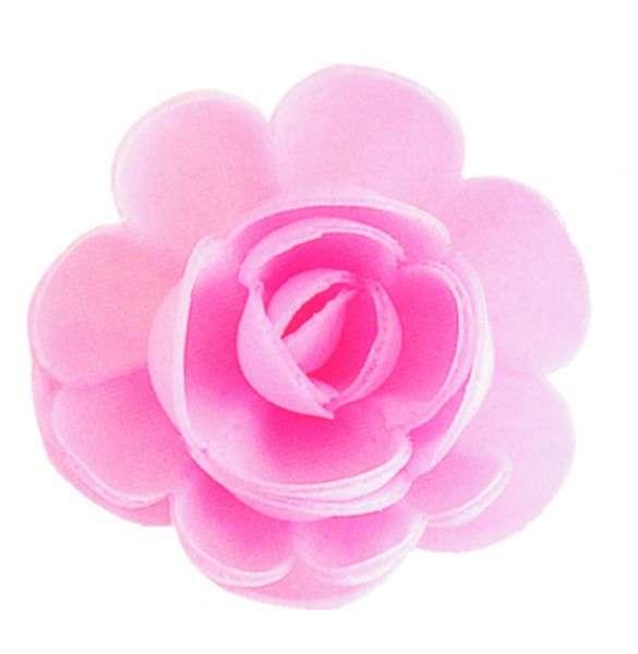Esspapier Rosen groß rosa 50mm 36 Stück