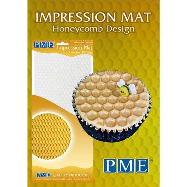 Prägematte Honigwabe Matten Größe 150x305mm