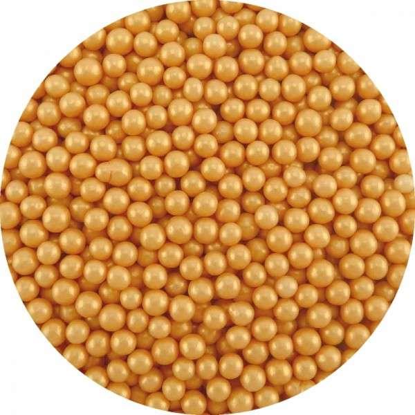 Zuckerperlen Gold 4mm 60g