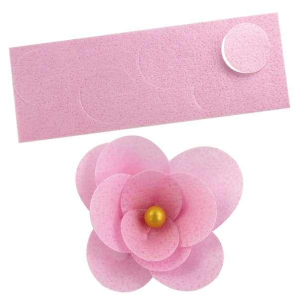 Esspapier Pre-Cut Blüten pink 3 Stück