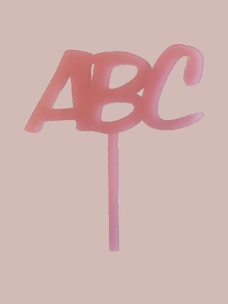 "Einschulung Cake-Topper ""ABC"" rosa"