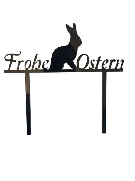 "Cake-Topper ""Frohe Ostern"" Acryl schwarz"