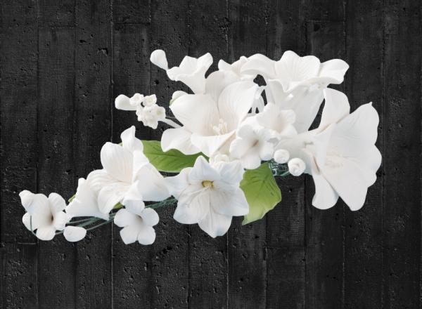Zuckerblumenbouquet Lilien weiß