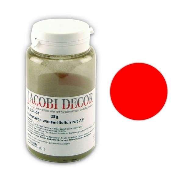 Puderfarbe wasserlöslich rot AF 25 gr AZOFREI
