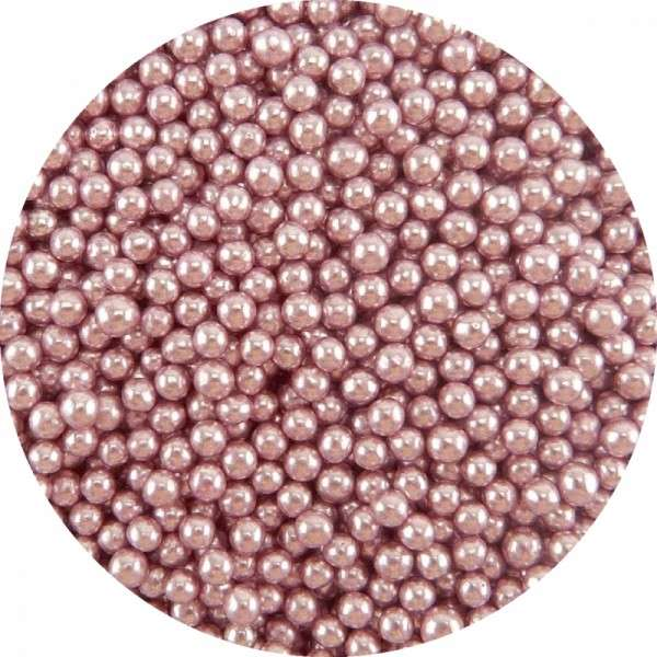 Zuckerperlen Metallic Rosa 4mm 60g