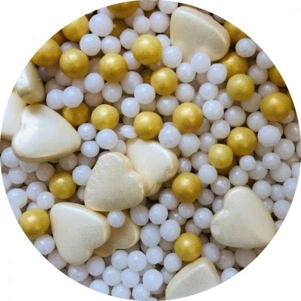 Zuckerherzen Mix perlmutt 60g