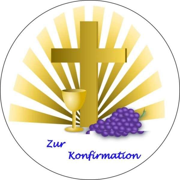 """Tortenaufleger """"Zur Konfirmation"""" 100mm"""