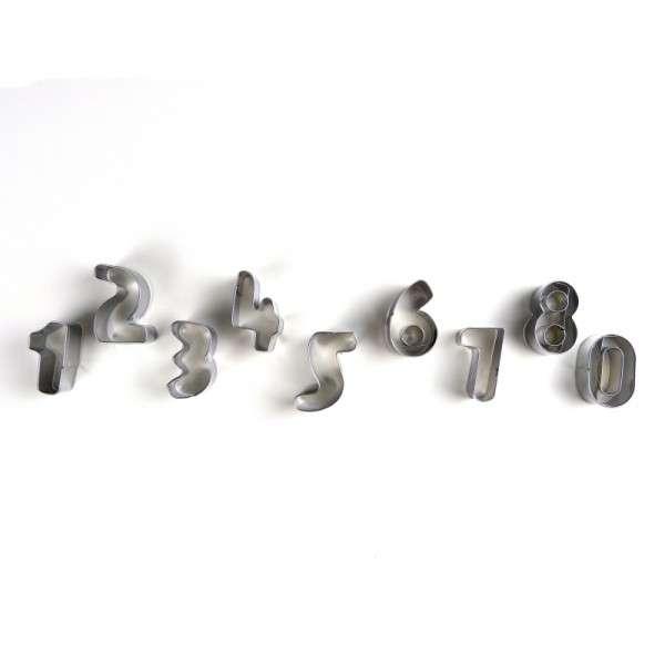 Metallausstecher Zahlen COXIMUS Größe ca. 35mm