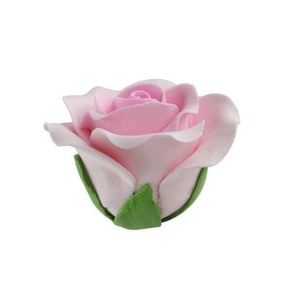 Feinzuckerrosen rosa groß 50mm 6 Stck