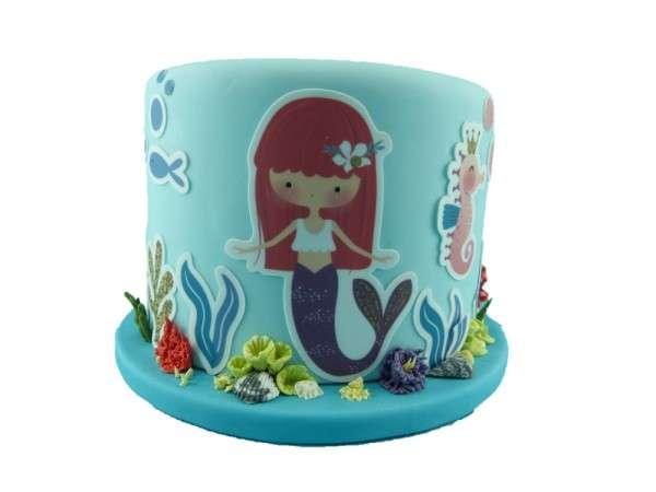 Kuchen Tattoo Mermaid Fondant Tortendeko