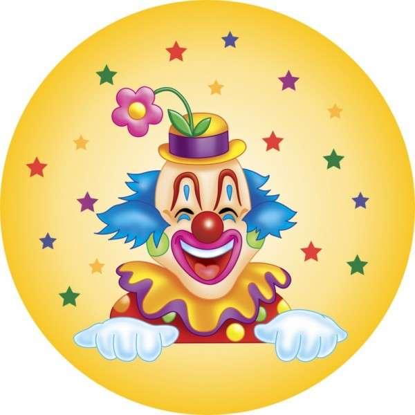 Zuckeraufleger Clown 100mm