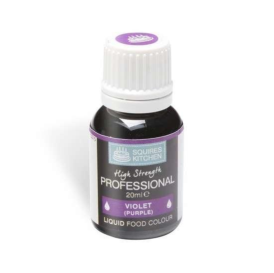 Profess. Lebensmittelfarbe violet (purple) 20 ml Squires Kitchen