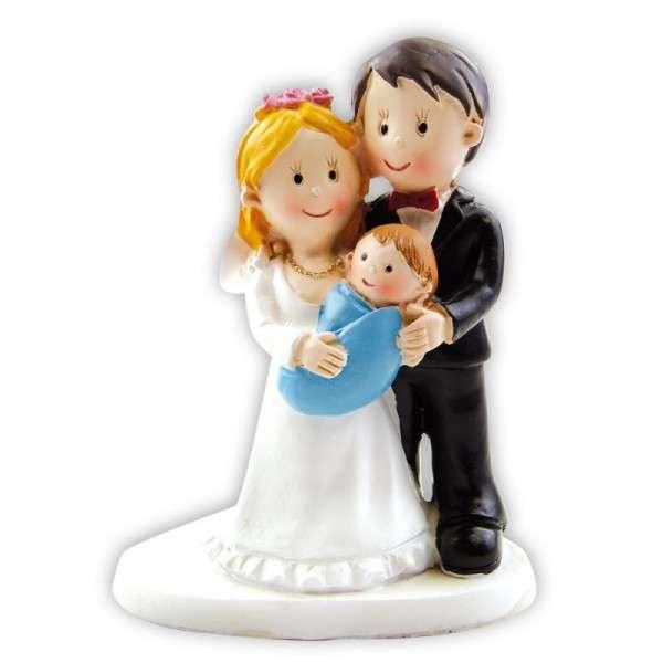 Paar mit Baby zu Hochzeit oder Taufe ca.8 cm