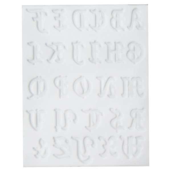Silikonform Alphabet (3 x 2 cm) 22,7 x 17,3 x 1 cm