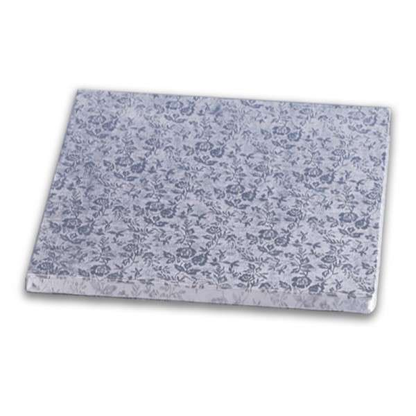 Tortenplatte quadrat 460 × 460mm Cake Board silber ca.10mm dick