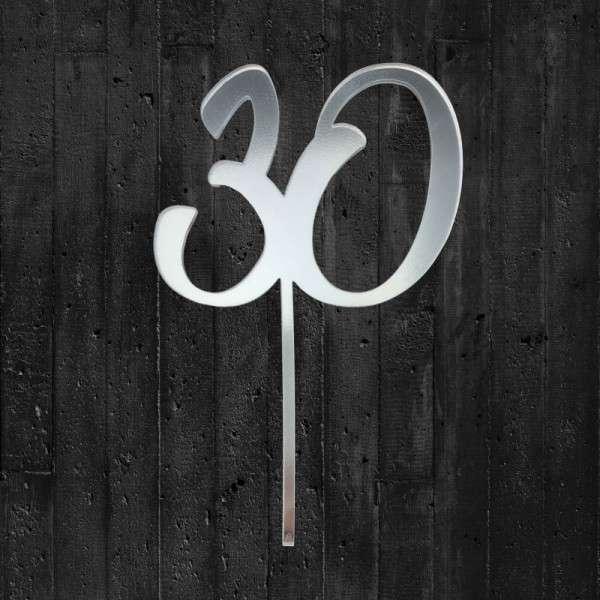 "Cake-Topper ""30"""