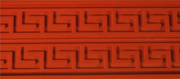 Silikon Reliefmatte griechischer Fries
