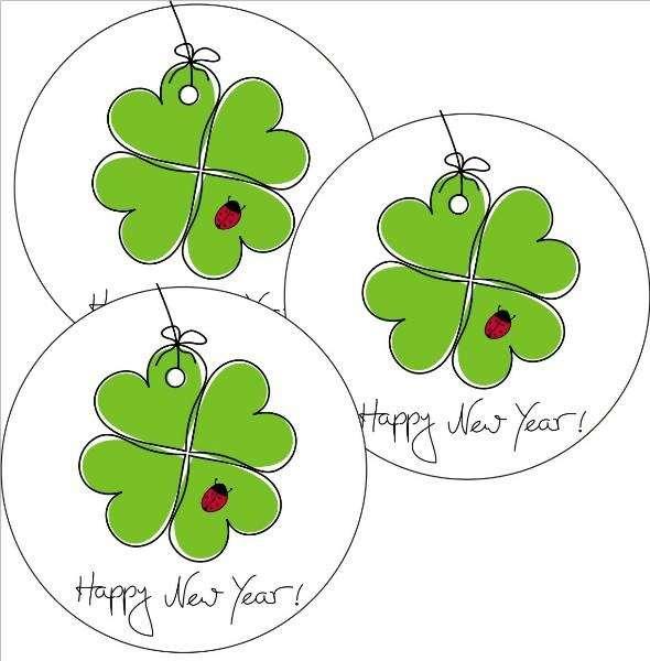 "Tortenaufleger Silvester ""Happy New Year"" 4cm"