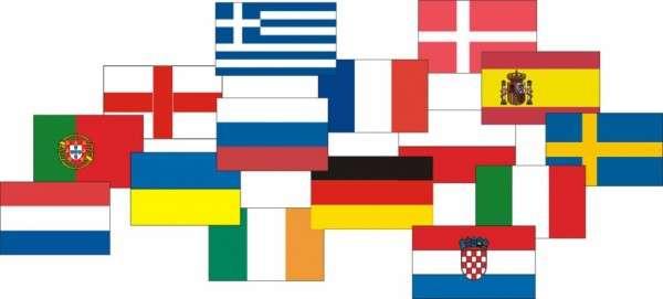 Esspapieraufleger Europaflaggen