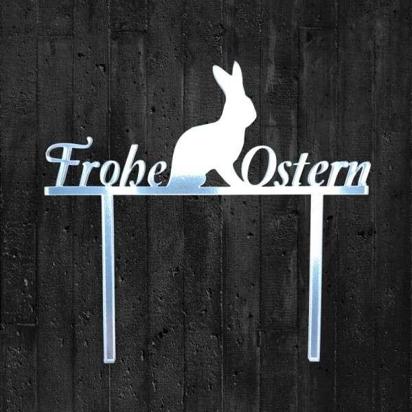 "Cake-Topper ""Frohe Ostern"" Acryl Spiegel"