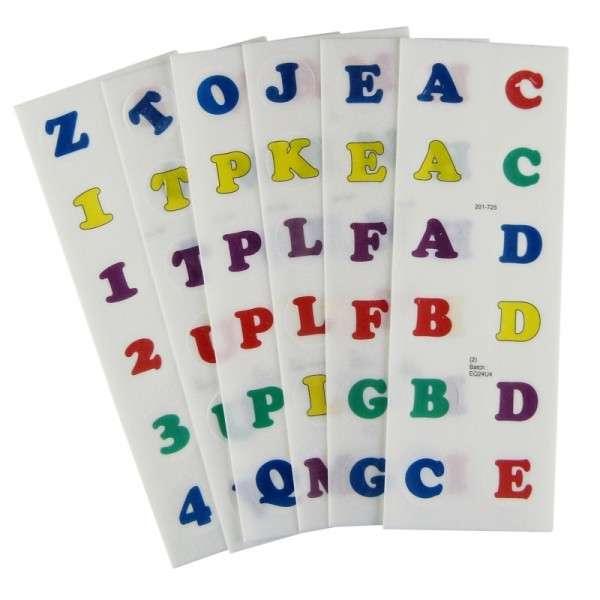 Esspapier Zahlen und Buchstaben 25mm bunt gemischt
