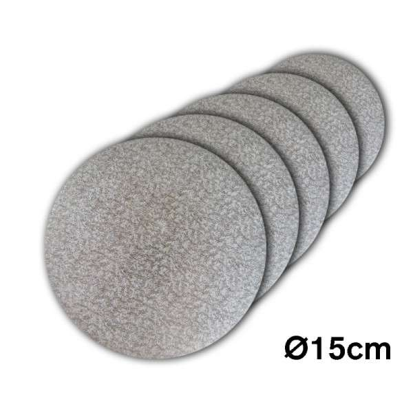 Tortenplatte 150 mm Ø Cake Drum silber ca.3mm dick 5 Stck