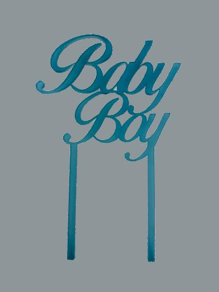 """Cake-Topper """"Baby Boy"""" Acryl blau"""