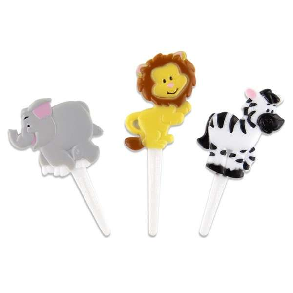 Cup Cake Dekoration Zoo Tiere Picks
