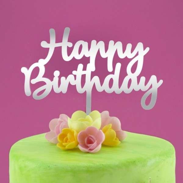 "Cake-Topper ""Happy Birthday"" Spiegel"