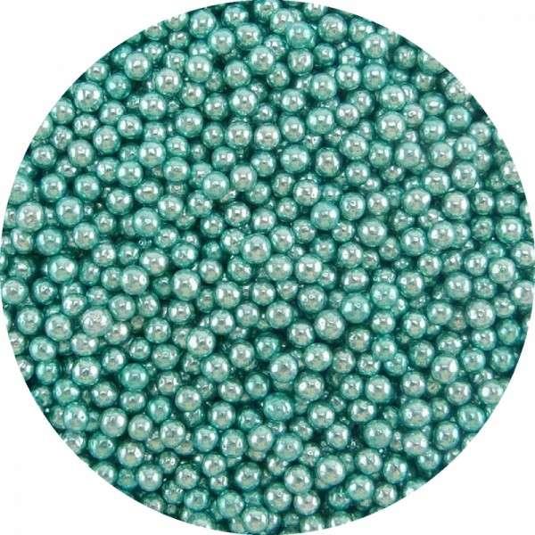 Zuckerperlen Metallic Blau 4mm 60g