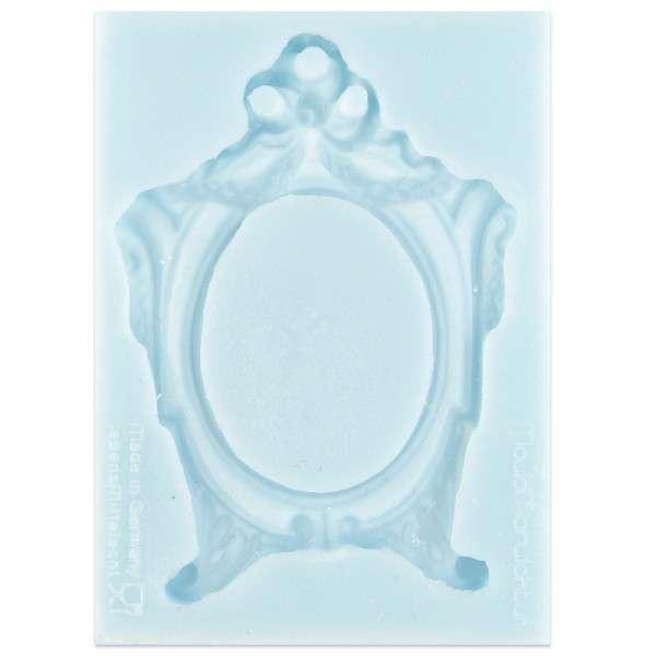 Silikonform Rahmen oval ca. 9,8 x 7 x1,2 cm