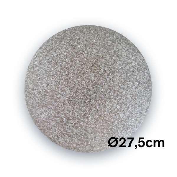 Tortenplatte 275 mm Ø Cake Drum silber ca.3mm dick