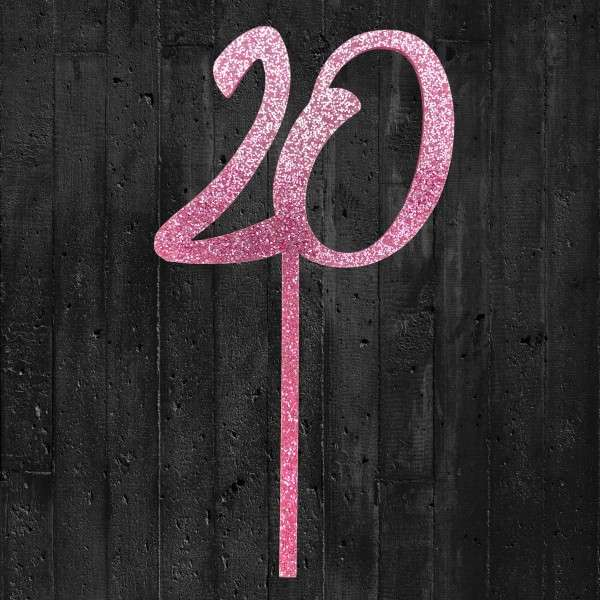 Cake Topper 20 rosa