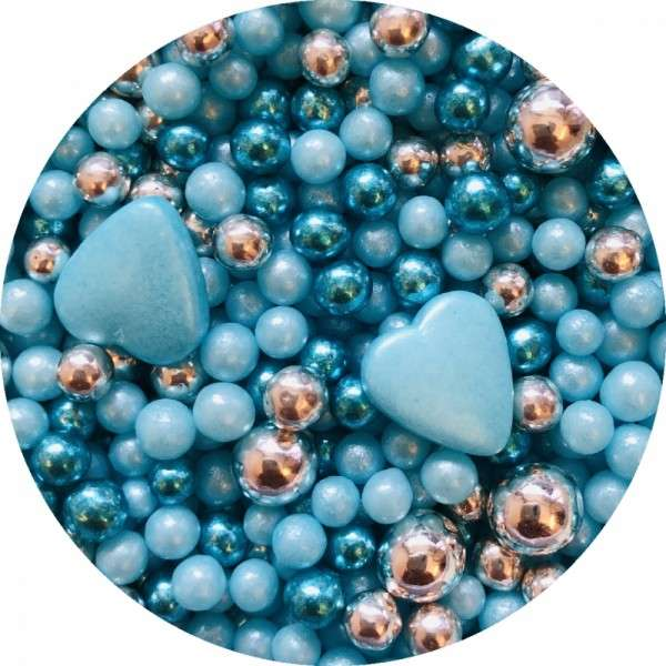 Zuckerherzen Mix blau 60g