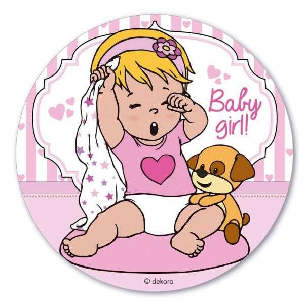 Esspapieraufleger Baby Girl 20cm 1Stück