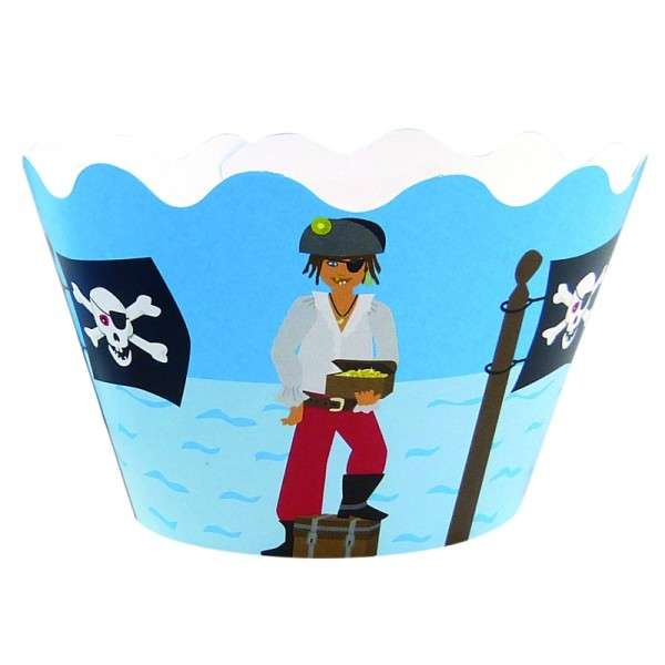 Cupcake Banderole Pirat 12 Deko Banderolen