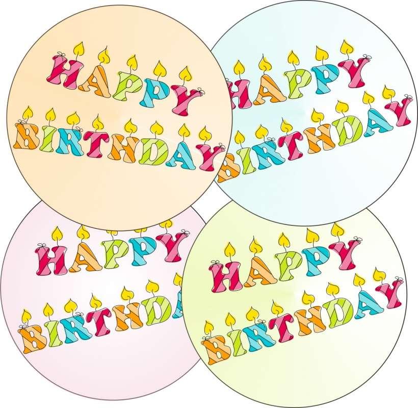 zuckeraufleger happy birthday 10cm | geburtstage/party