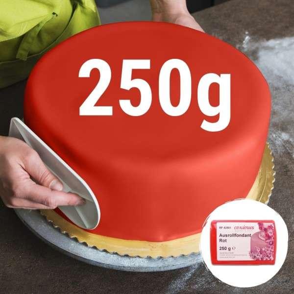 Farbiger Fondant Rot 250 g