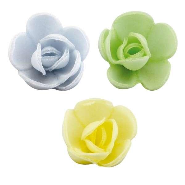 Esspapier Rose klein 30mm 12Stck aromatisiert vanille caramel