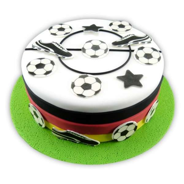 Kuchen Tattoo Fußball Fondant Tortendeko