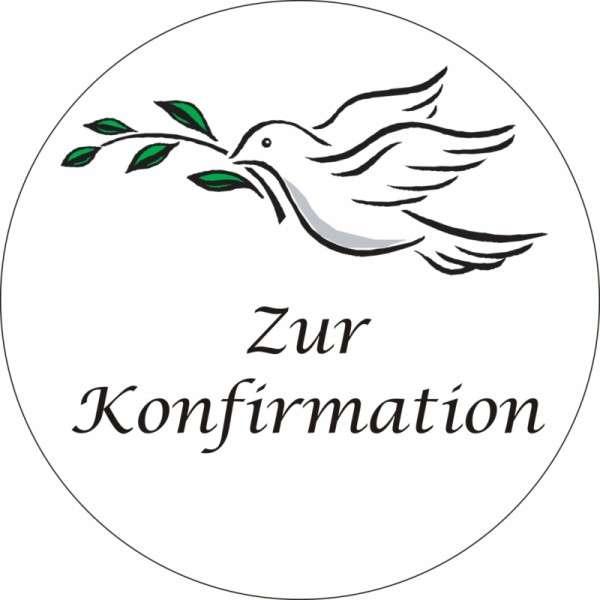 """Tortenaufleger Taube """"Zur Konfirmation"""" 100mm"""