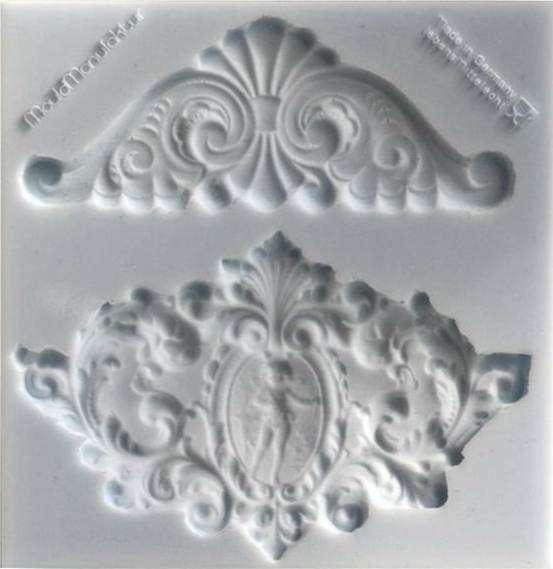 Silikonform Ornamente ca. 11,4 x 11,7 x 0,9 cm