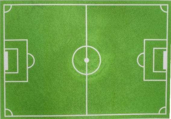 Esspapieraufleger Fußballfeld 30x20cm