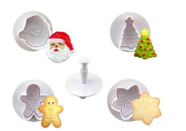 Plätzchen Ausstecher-Set Weihnachten Kunststoff