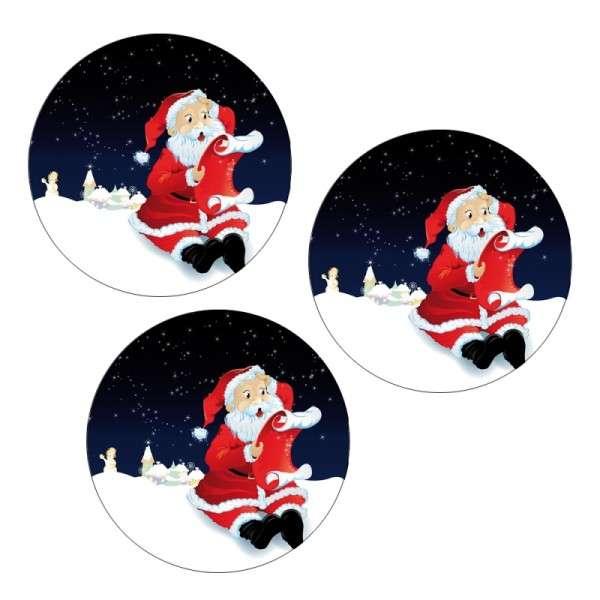 Zuckeraufleger Weihnachtsmann mit Wunschzettel 4cm