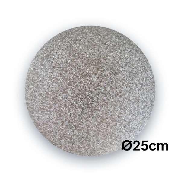Tortenplatte 250 mm Ø Cake Drum silber ca.3mm dick