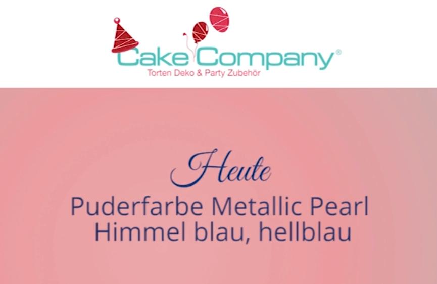 Puderfarbe Pearl Himmelblau Azofrei 3g
