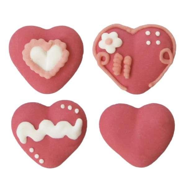 Zuckerdekoration Herzen