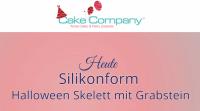 """Silikonform """"Skelett mit Grabstein"""""""